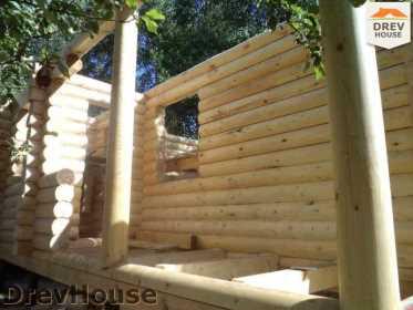 Строительство сруба дома из бревна в поселке Пущино   фаза 13