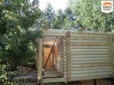 Строительство сруба дома из бревна в поселке Пущино   фаза 14