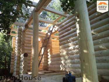Строительство сруба дома из бревна в поселке Пущино   фаза 15