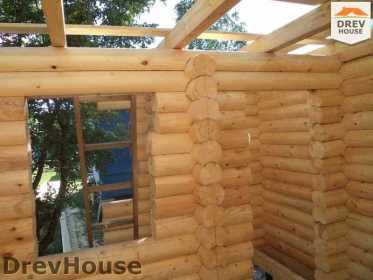 Строительство сруба дома из бревна в поселке Пущино   фаза 16