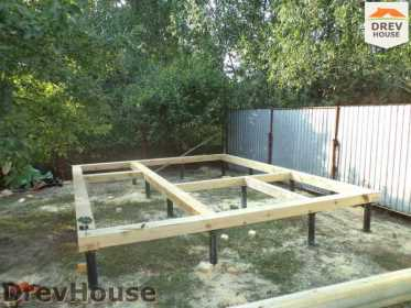 Строительство сруба дома из бревна в поселке Пущино   фаза 3