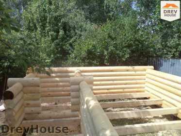 Строительство сруба дома из бревна в поселке Пущино   фаза 5