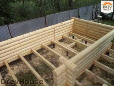 Строительство сруба дома из бревна в поселке Пущино   фаза 6