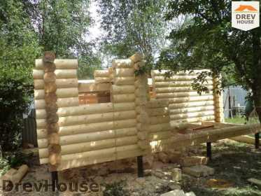 Строительство сруба дома из бревна в поселке Пущино   фаза 8