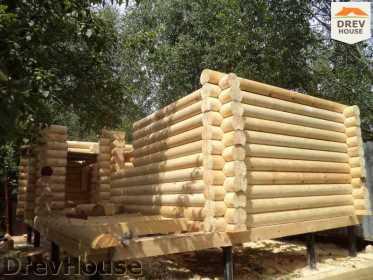 Строительство сруба дома из бревна в поселке Пущино   фаза 9