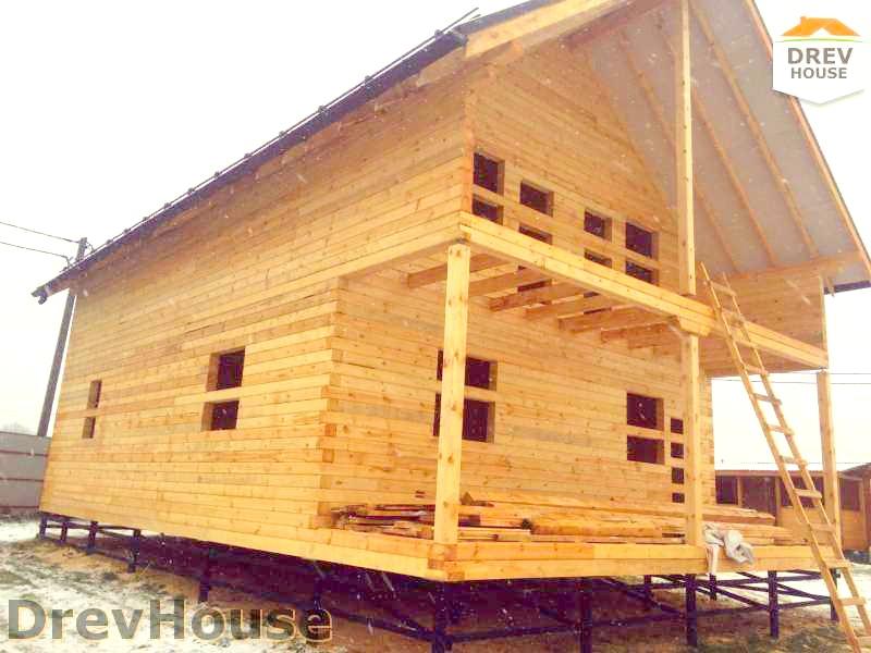Фоторепортаж строительства дома из бруса в г. Переславль-Залесский, ЯО (по проекту ДБ-28)