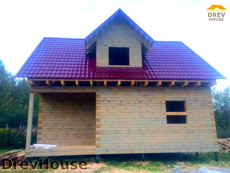 Фоторепортаж строительства дома из бруса по проекту Толедо в г. Электрогорске, МО