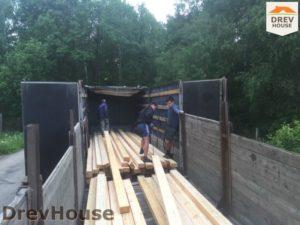 Строительство дома из бруса в СНТ Аникеевка   фаза 1