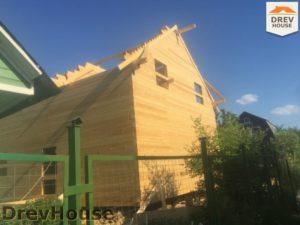 Строительство дома из бруса в СНТ Аникеевка   фаза 10