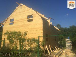 Строительство дома из бруса в СНТ Аникеевка   фаза 11