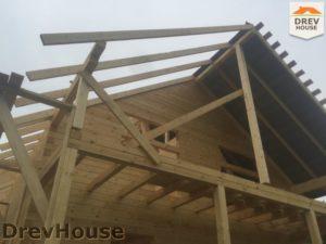 Строительство дома из бруса в СНТ Аникеевка   фаза 12
