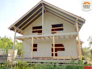 Строительство дома из бруса в СНТ Аникеевка   фаза 18
