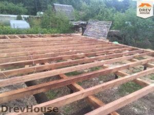 Строительство дома из бруса в СНТ Аникеевка   фаза 2