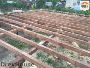 Строительство дома из бруса в СНТ Аникеевка   фаза 3