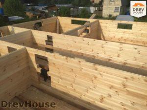 Строительство дома из бруса в СНТ Аникеевка   фаза 4