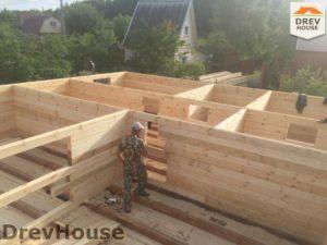 Строительство дома из бруса в СНТ Аникеевка   фаза 5