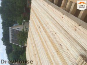 Строительство дома из бруса в СНТ Аникеевка   фаза 6