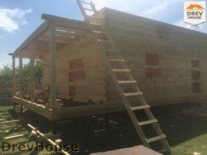 Строительство дома из бруса в СНТ Аникеевка   фаза 7