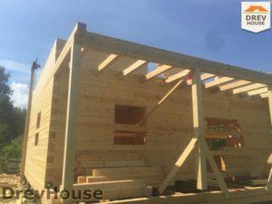 Строительство дома из бруса в СНТ Аникеевка   фаза 8