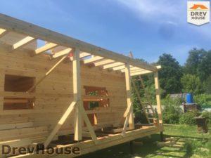Строительство дома из бруса в СНТ Аникеевка   фаза 9