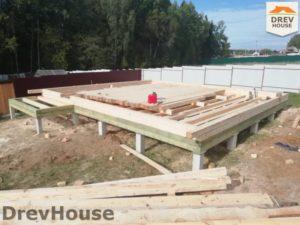 Строительство дома из бруса в СНТ Лесная поляна   фаза 1