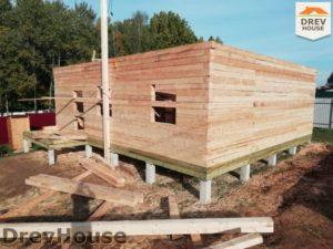 Строительство дома из бруса в СНТ Лесная поляна   фаза 10