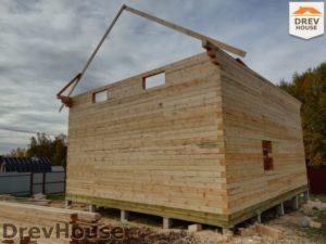 Строительство дома из бруса в СНТ Лесная поляна   фаза 11
