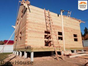 Строительство дома из бруса в СНТ Лесная поляна   фаза 12