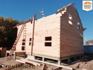 Строительство дома из бруса в СНТ Лесная поляна   фаза 13