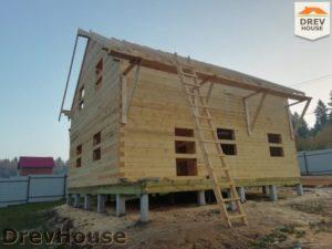 Строительство дома из бруса в СНТ Лесная поляна   фаза 14