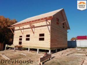 Строительство дома из бруса в СНТ Лесная поляна   фаза 15