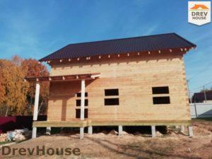 Строительство дома из бруса в СНТ Лесная поляна   фаза 16