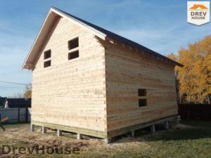 Строительство дома из бруса в СНТ Лесная поляна   фаза 17