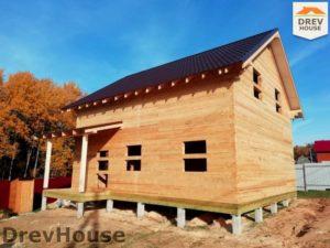 Строительство дома из бруса в СНТ Лесная поляна   фаза 18