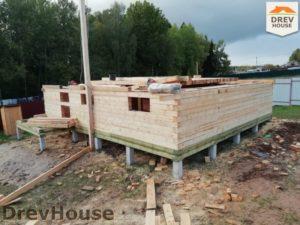 Строительство дома из бруса в СНТ Лесная поляна   фаза 2