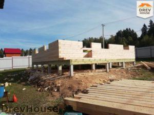 Строительство дома из бруса в СНТ Лесная поляна   фаза 3