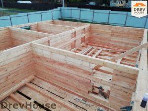 Строительство дома из бруса в СНТ Лесная поляна   фаза 4