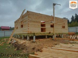 Строительство дома из бруса в СНТ Лесная поляна   фаза 5