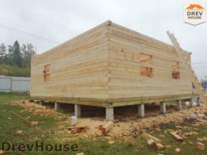 Строительство дома из бруса в СНТ Лесная поляна   фаза 6