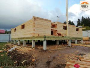 Строительство дома из бруса в СНТ Лесная поляна   фаза 7