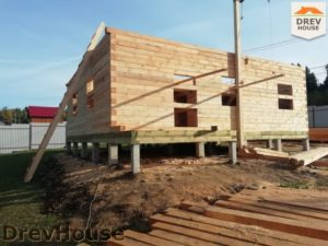 Строительство дома из бруса в СНТ Лесная поляна   фаза 8