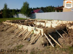 Строительство дома из бруса в СНТ Маслово   фаза 1