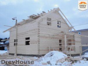 Строительство дома из бруса в СНТ Маслово   фаза 10