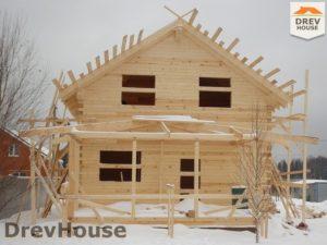 Строительство дома из бруса в СНТ Маслово   фаза 11