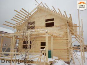 Строительство дома из бруса в СНТ Маслово   фаза 12