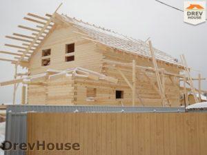 Строительство дома из бруса в СНТ Маслово   фаза 13