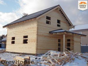 Строительство дома из бруса в СНТ Маслово   фаза 16