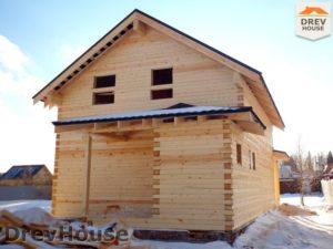 Строительство дома из бруса в СНТ Маслово   фаза 18