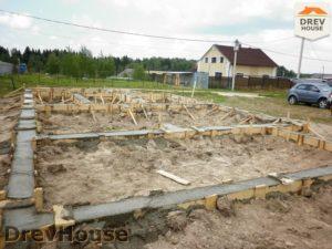Строительство дома из бруса в СНТ Маслово   фаза 3