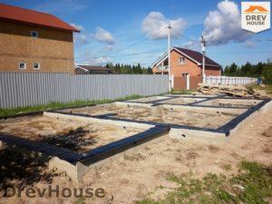 Строительство дома из бруса в СНТ Маслово   фаза 4